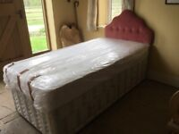 Single bed with drawers, head board and mattress