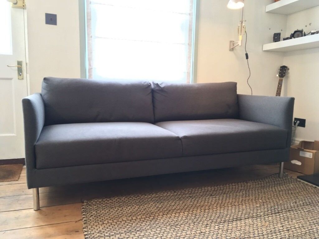 Second Hand Habitat Hyde 3 Seater Sofa In Charcoal With Steel Legs In Lewes East Sussex Gumtree