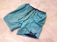 Nike running shorts light blue large mens L