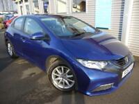 HONDA CIVIC 2.2 I-DTEC SE 5d 148 BHP **£20 ROAD TAX** (blue) 2012