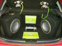 Alpine S Type Sub, Fusion amplifier, Custom install for Ford focus