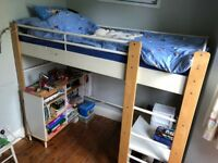 Children's Bed with built in Desk by Ikea