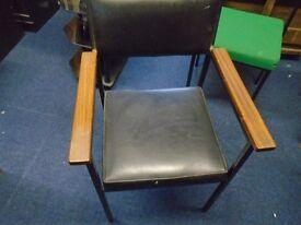 black leather desk chair.