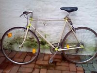 Vintage road bike in good and working condition for sale.