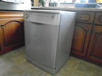 BEKO full size Silver/Grey Dishwasher (DWD5410) with free 78 tab box of finish
