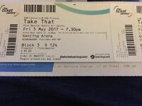 TAKE THAT TICKET! 5TH MAY!