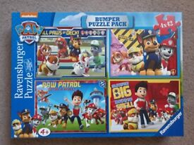 Paw Patrol Bumper puzzle pack jigsaws by Ravensburger - 4 x 42 piece Jigsaw set