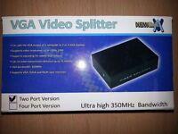 2 Port VGA Video Splitter (New)