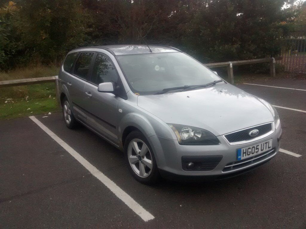 Silver Ford Focus Zetec Estate 2005 1.6 TDCI Shrub End