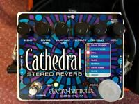 Electro Harmonix EHX Stereo Cathedral Reverb for Guitar - freeze function