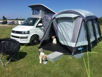 Kampa Drive away Awning for T5 Travel POD two bedrooms and livng living compartment.