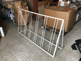 Floor mounted bicycle stand/rack for 6 bikes