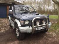 1995 Mitsubishi Pajero SWB 2.8 Intercooler Turbo Blue MANUAL With 12 Months MOT