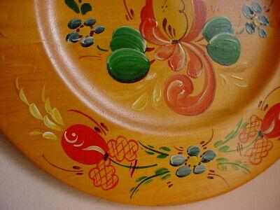 Vintage Rosemaling Plate Wooden Wall Art Platter Norwegian Gud Signe Maten