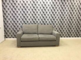 Las Vegas 2 Seater Sofa Bed In Russon Smoke Fabric RRP £895