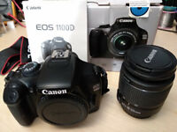 Canon EOS 1100D SLR Camera with EFS 18-55mm Lens + Memory Card Boxed
