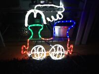 59 cm chasing led train christmas rope light with multi coloured leds indoor and outdoor use IP44