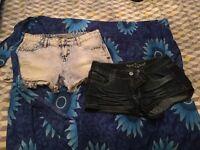 2 x summer denim hotpants and sarong
