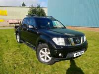 2006 NISSAN NAVARA AVENTURA 2.5 DCI MANUAL DOUBLE CABIN PICK UP 4X4 F.S.H LONG MOT SAT NAV LEATHERS