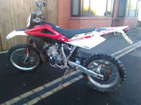 2009 HUSQVARNA WR 250 TWO STROKE ROAD REGISTERED ROAD LEAGAL ENDURO 2 STROKE MX NOT KTM