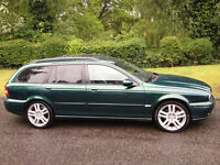 JAGUAR X-TYPE 2.0D DIESEL SPORT 5 DOOR ESTATE MOT JAN 2018 PART SERVICE HISTORY HALF LEATHER ALLOYS