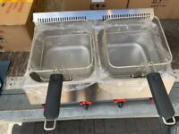 NEW LPG GAS FRYER OUTDOOR MARKET CATERING COMMERCIAL KITCHEN FAST FOOD TAKE AWAY