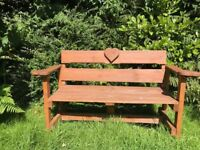 HAND MADE WOODEN BENCH FOR GARDEN