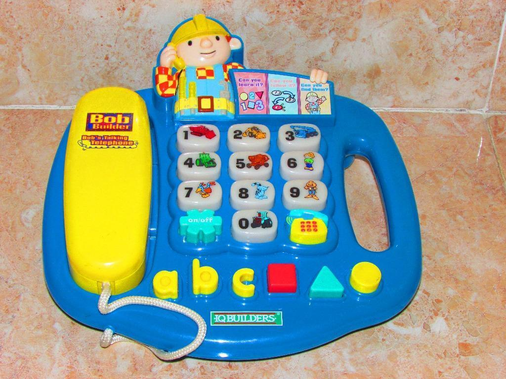 I Q BUILDERS BOB THE BUILDER MUSICAL PHONE TOY | in ...