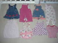 Bundle of GIRLS' CLOTHES, 6-12 months