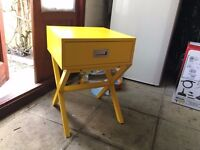 Yellow bedside table - never used