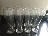 8 tall glasses