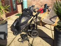 Powerkaddy powered golf trolley plus charger