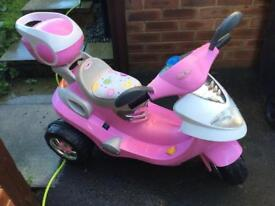 Girls powered motor bike.