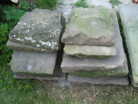 16th Century Stone floor slabs, reclaimed stone.