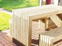 Garden Picnic Tables with Benches to fit under / 4ft, 5ft and 6ft / FREE Delivery Norwich