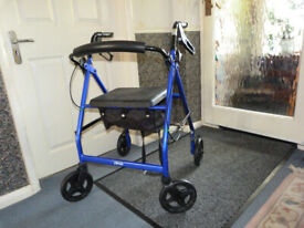 Drive, Four Wheel Rollator with seat - good working order