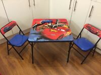 Disney Cars Children's Table and Chairs Set