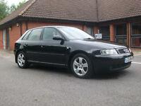 Audi A3 1.8t Quattro. Excellent Condition. FULL SERVICE HISTORY. Low Mileage 109k