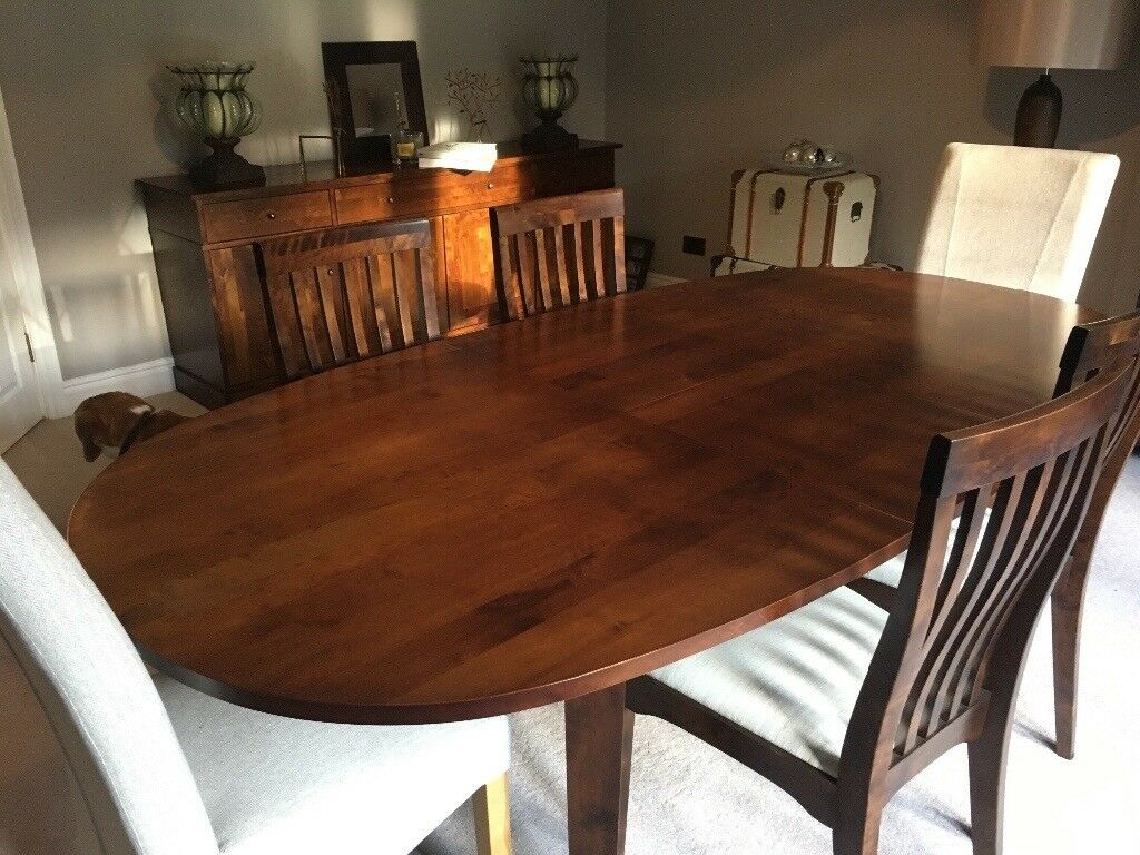Laura Ashley Brand New Oval Dining Table And Chairs