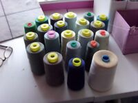 Thread/over locking/sewing machine large cops of thread colours 21 spools