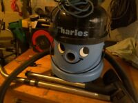 Numatic Charles vacuum cleaner comes with hose and floor attachment powerfull gwo