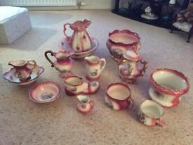 Large collection of Staffordshire Vases, Jugs & other items