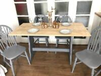 OAK TABLE AND CHAIRS FREE DELIVERY LDN🇬🇧SHABBY chic