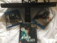 SONY 3D BLUE RAY PLAYER + 3 films 2 pairs 3D glassses