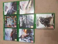 Xbox one 500GB with kinect, 7 games and other accessories