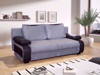🎄🎄 XMAS SALE!!BRAND NEW LEATHER & FABRIC SOFA BED with STORAGE UNDERNEATH DELIVERY ALL OVER UK