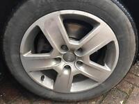 "Audi 16"" alloys original 5x112 205/55/16 with tyres x5"