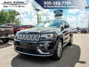 2017 Jeep Grand Cherokee SUMMIT 4X4, SUNROOF, DVD, PLATINUM PKG,