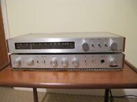 Vintage CAMBRIDGE AUDIO T55 TUNER & P50 AMPLIFIER (70s) - PARTS ONLY