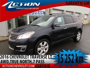 2016 CHEVROLET TRAVERSE AWD LT TRUE NORTH,GR REMORQUAGE,BLUETOOT